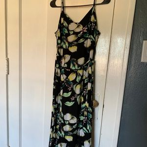 Xhilaration Lemon Maxi Dress NWT